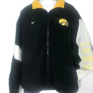 Vintage 90s Reebok Iowa Hawkeyes Jacket Windbreake